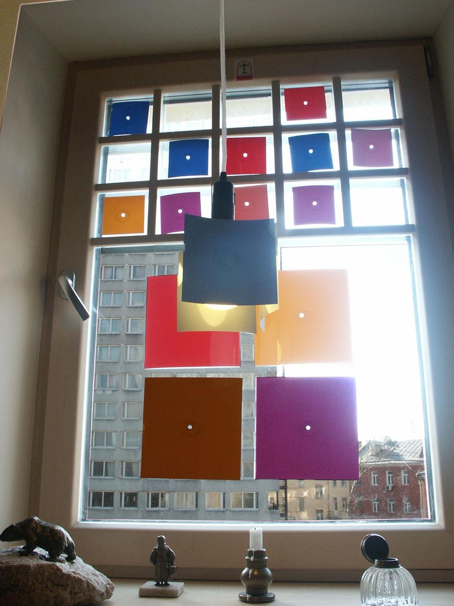 На окне - комплект trans-square