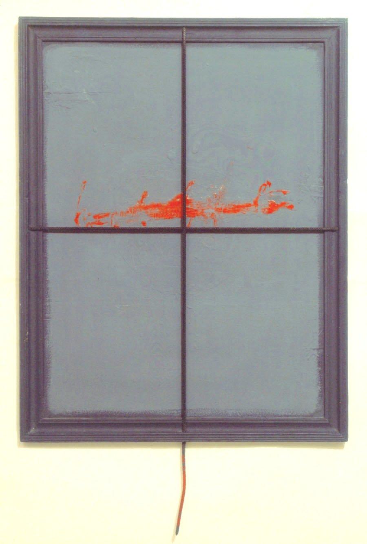 V.F. 1990. 70 x 50. Hardboard, acrylic, oil.