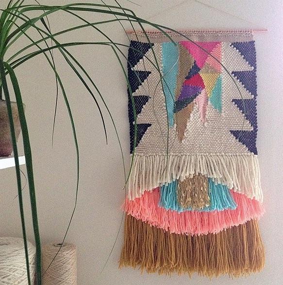 Hanging art by Maryanne Moodie.