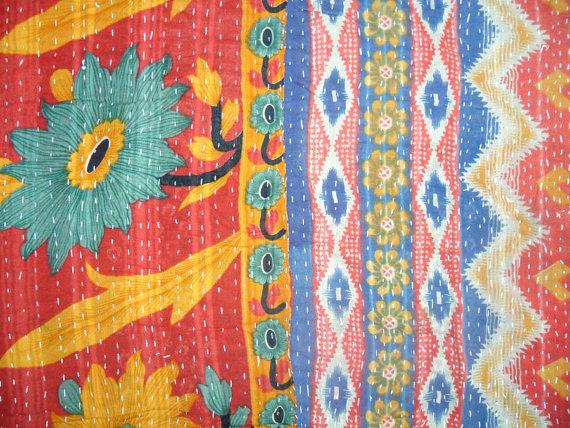 Kantha quilt. (UniqueKantha)