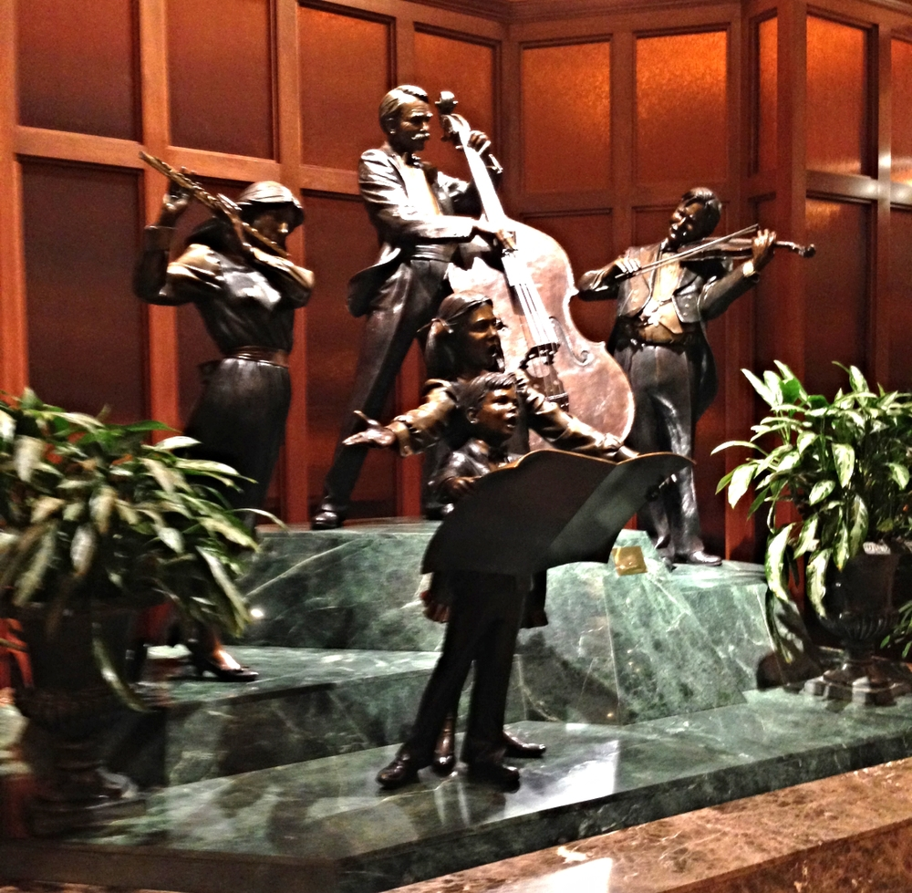 Sculpture in the lobby.