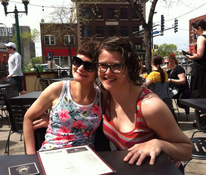 Having a delicious breakfast outside (yay spring!) with a dear friend.