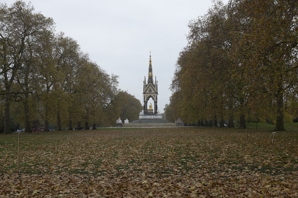 The Albert memorial on the way to Victoria Albert museum.