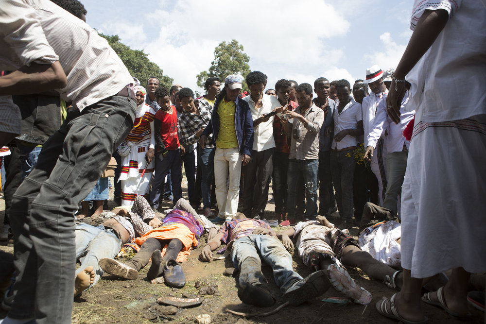 People killed by the stampede. Credit: Zacharias Abubeker / AFP