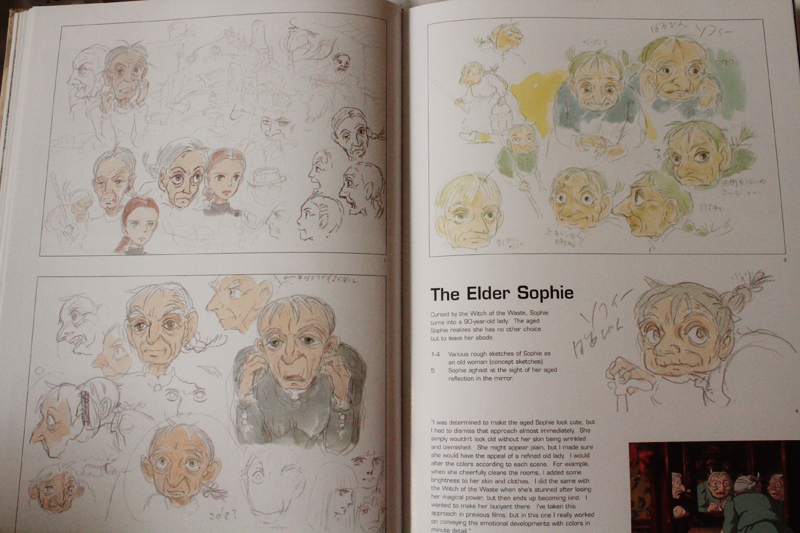 The Art of Howl's Moving Castle Book Review, Flipping through