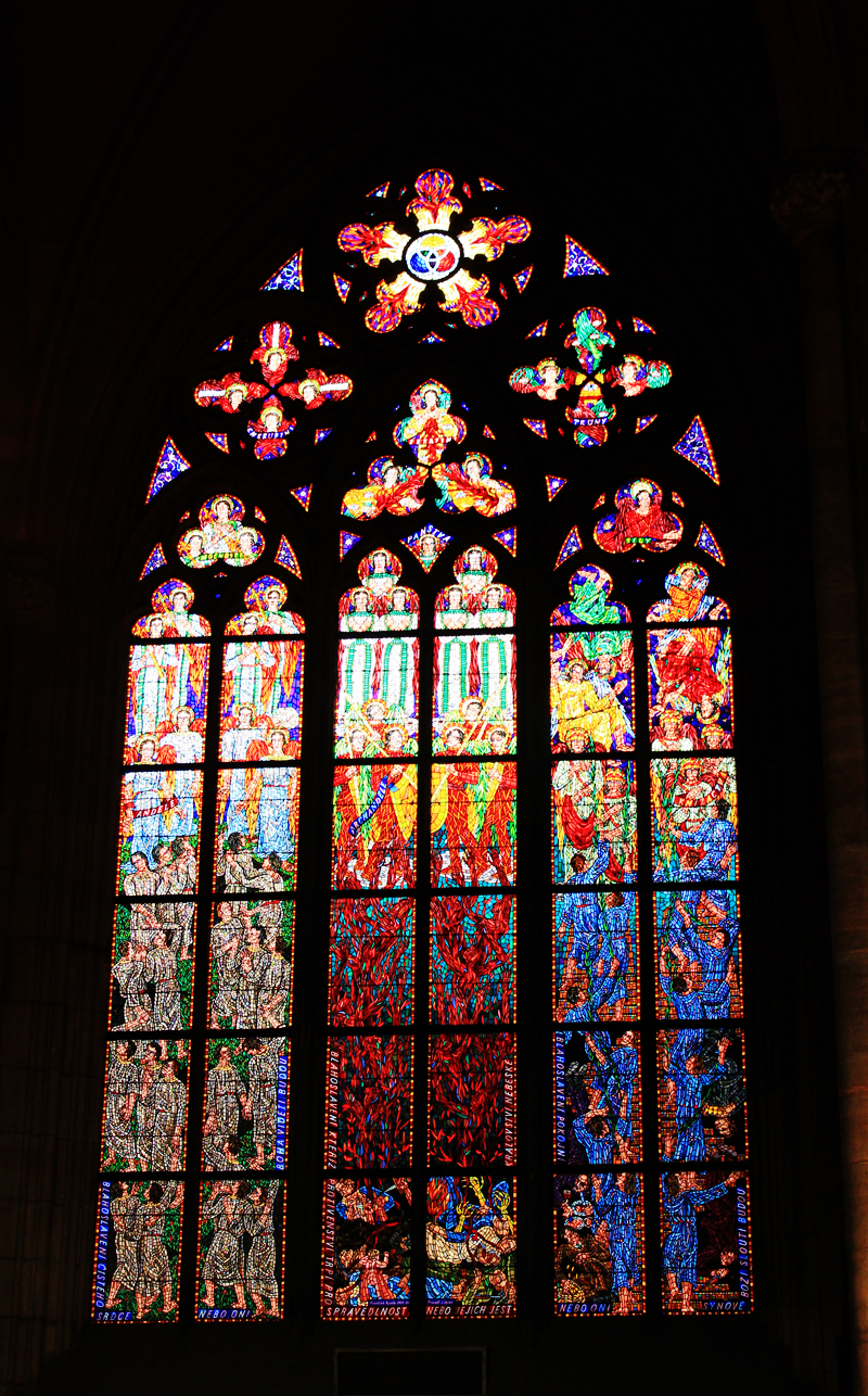 stained glass windows - Prague