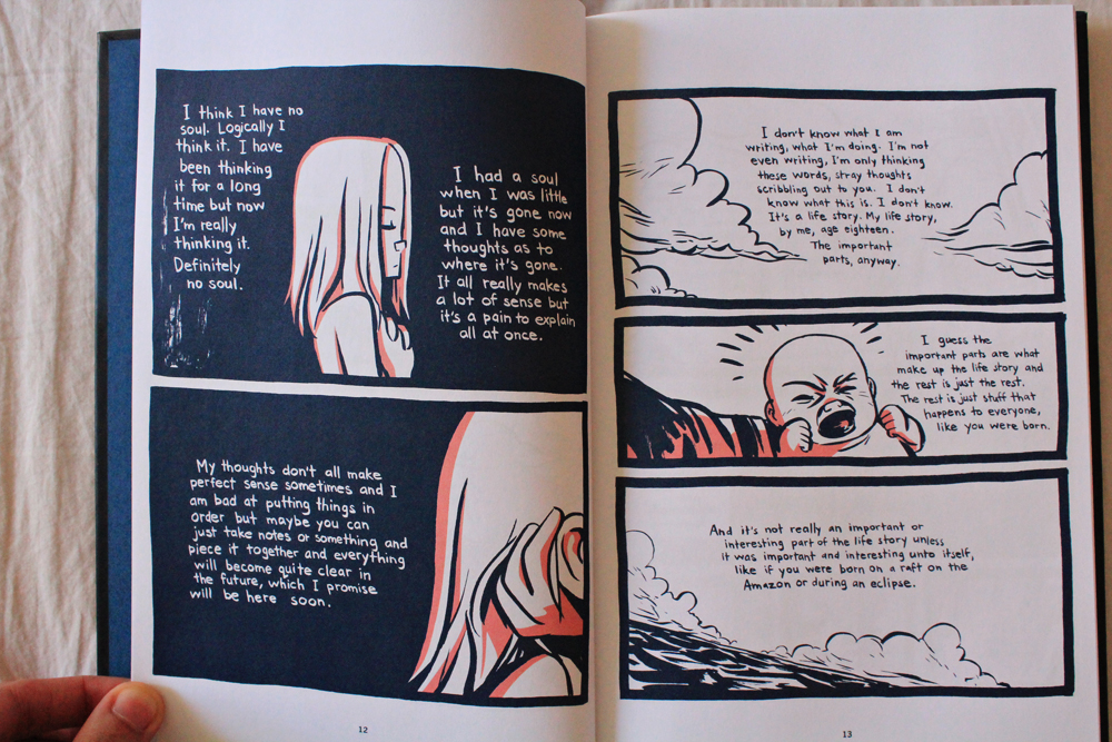 Graphic Novel Lost at sea by Bryan Lee O'Malley book excerpt, review