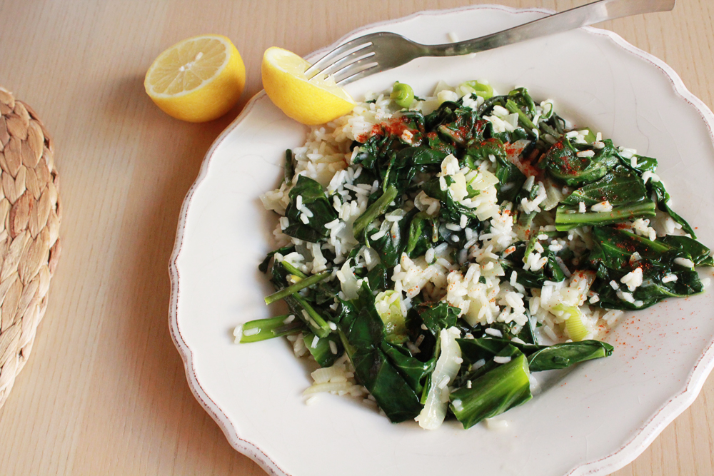 Risotto with Wild Greek Greens recipe