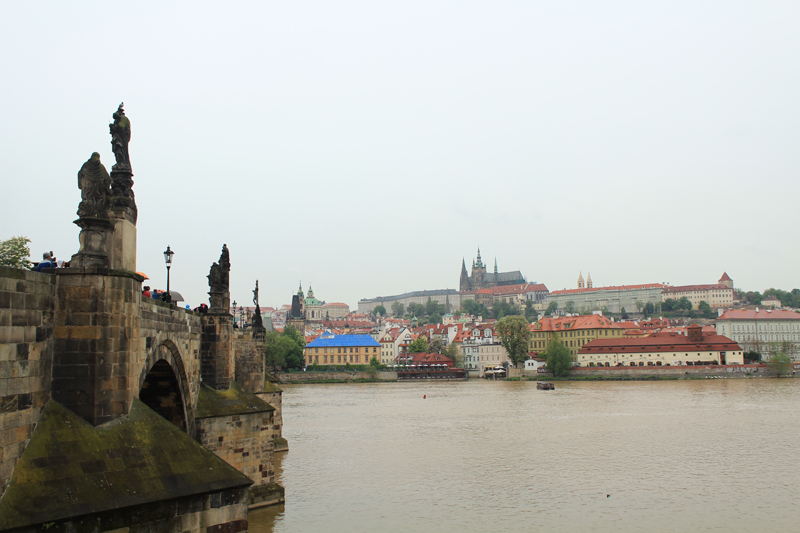 Charle's Bridge and palaces- Prague
