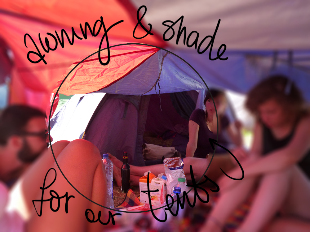 awning for shade  tips for surviving in music festivals