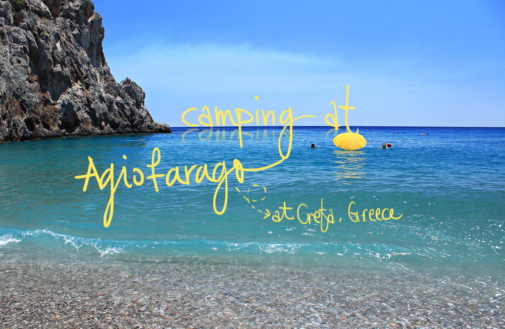 Camping at Agiofaraggo (South Crete, Greece)