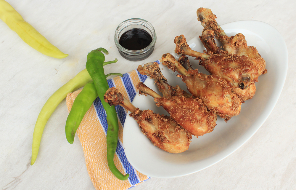 Crispy chicken legs with a mustard crust by In Whirl of Inspiration
