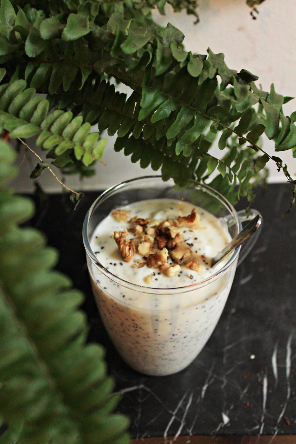 Try this: Yogurt with marzipan, poppy seeds & walnuts | in Whirl of Inspiration