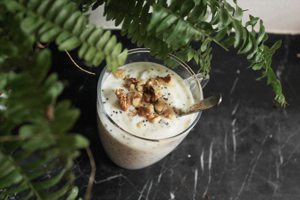 Try this Yogurt with marzipan, poppy seeds & walnuts | In Whirl of Inspiration