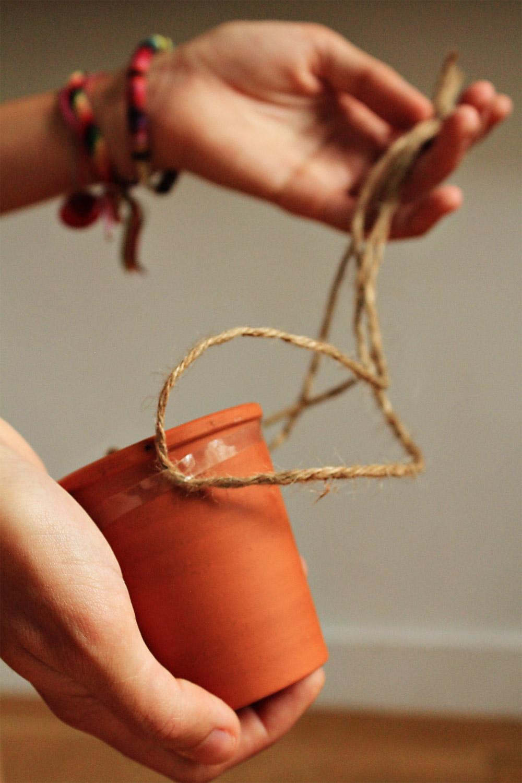 Άιωρούμενο'  κρεμαστό γλαστράκι , εύκολα και γρήγορα | από το In Whirl of Inspiration