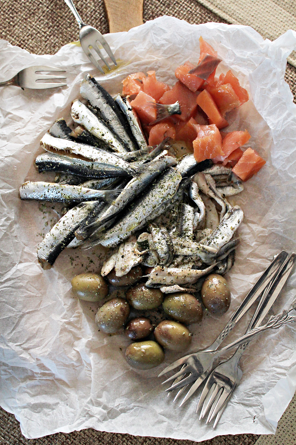 Make easily salted fish: sardines and anchovies for ouzo meze trays | from IN WHIRL OF INSPIRATION