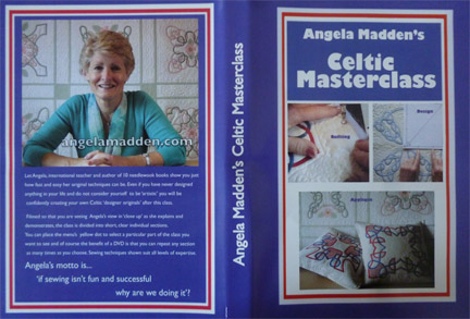 Celtic Appliqué design masterclass DVD by Angela Madden