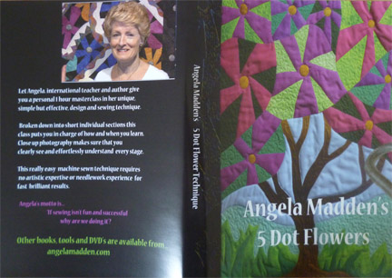 '5 Dot Flowers' raw edge appliqué design  DVD by Angela Madden