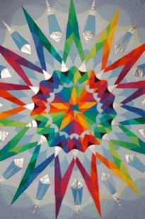 Star, kaleidoscope quilt design