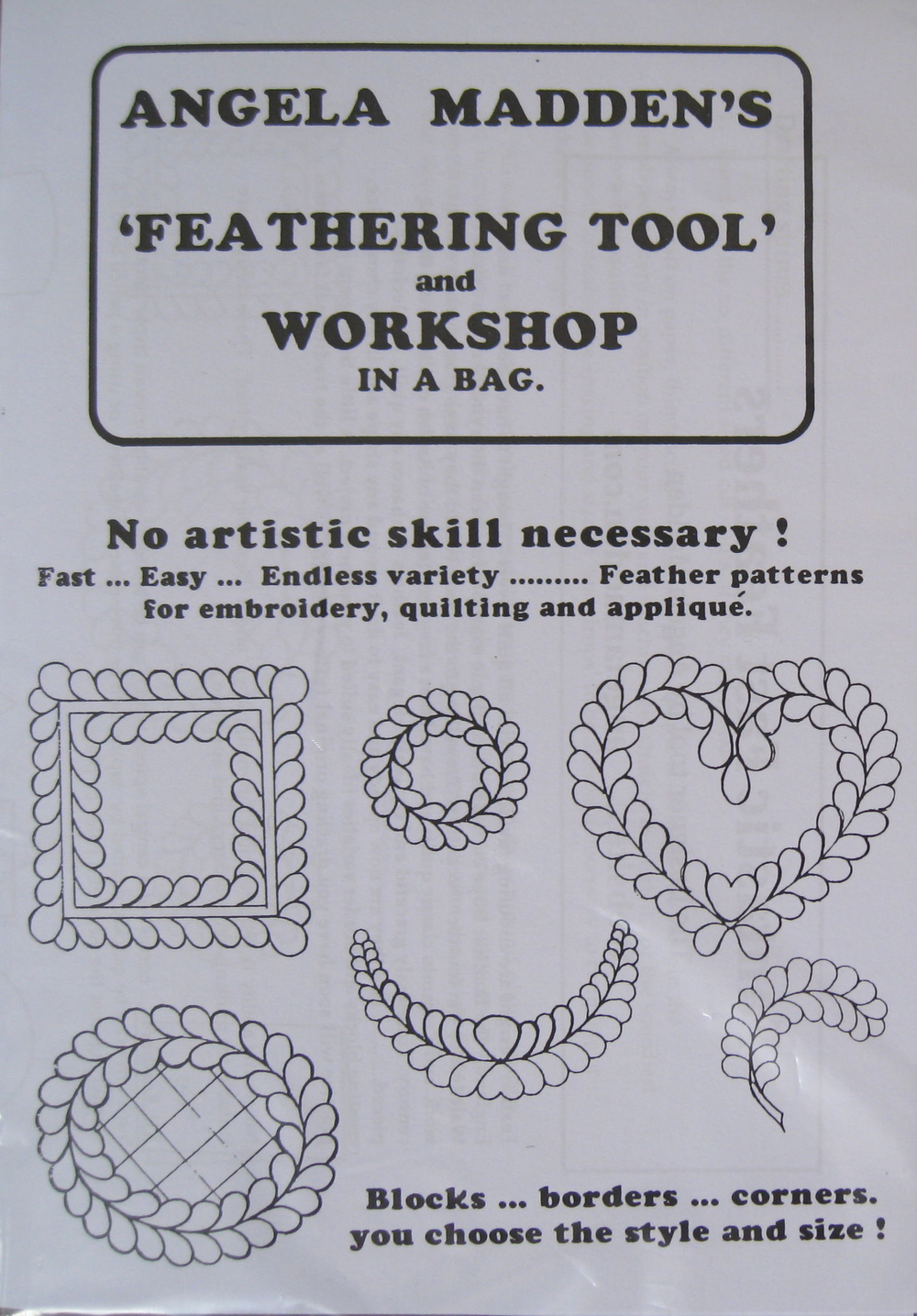 Feather Tool, quilt design template