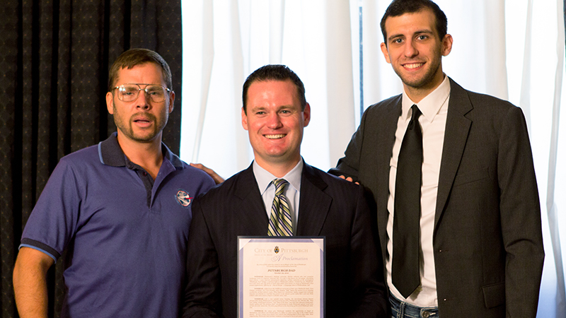 "Mayor Luke Ravenstahl declares Oct. 25th 2012 ""Pittsburgh Dad Day""."