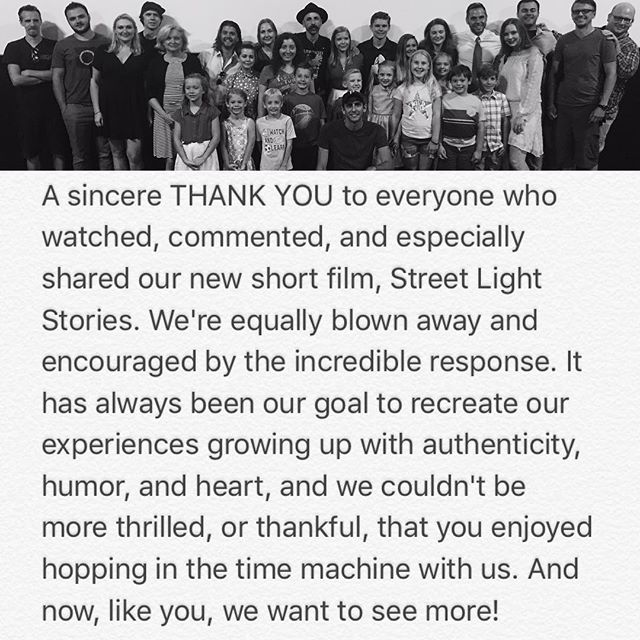 Thank you from Curt, Chris, cast, and crew!