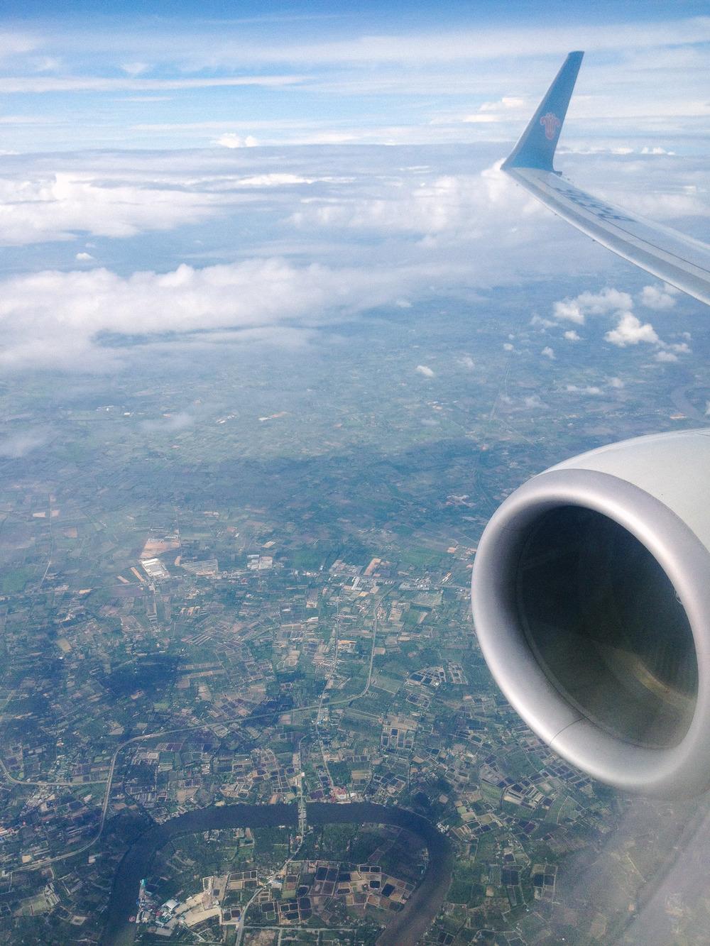 Somewhere over China