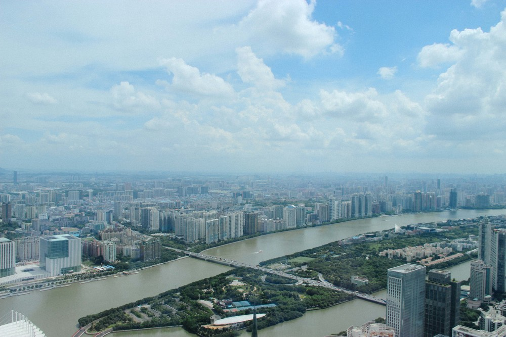View of the Pearl River Delta.