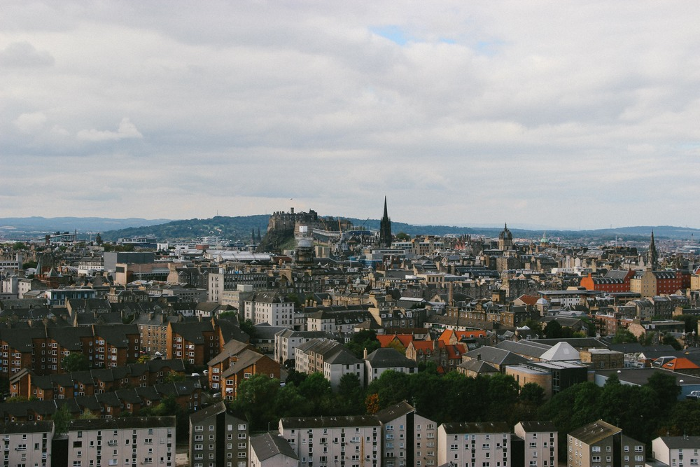 View of Edinburgh from the small hill.