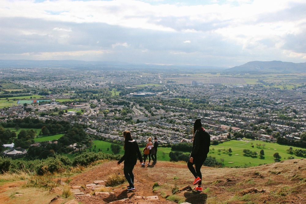 View of the south of Edinburgh from Arthurs Seat.
