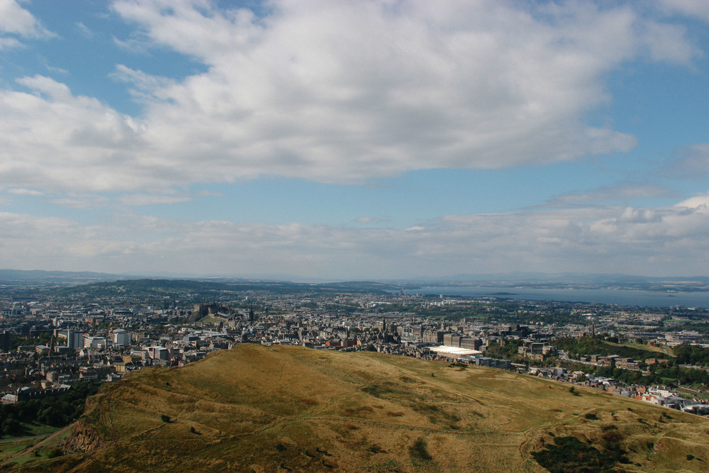 View from Arthurs Seat.