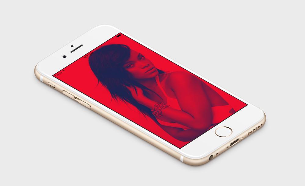 Duotone effect in iOS
