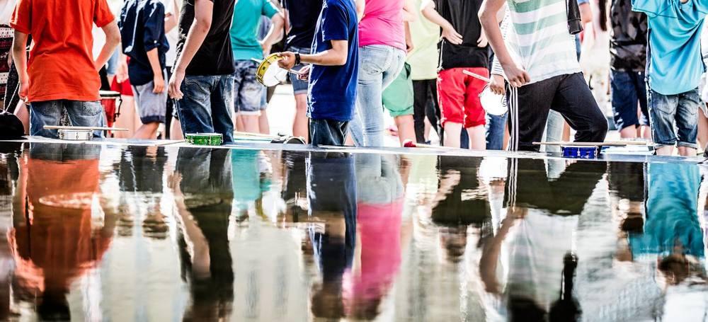 Vannet stilnet atter i etterkant av konserten.Foto: Magnus Skrede