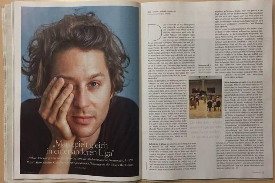 Arthur Arbesser for Die Presse - Austria