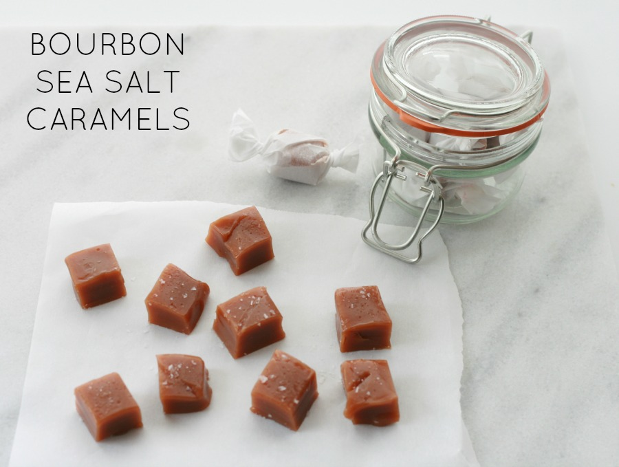 Bourbon Sea Salt Caramels from One Simple Thing Blog