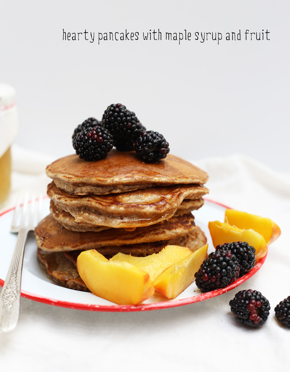 Hearty Pancakes at One Simple Thing Blog