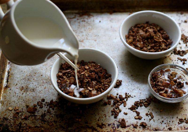 Chocolate Buckwheat granola