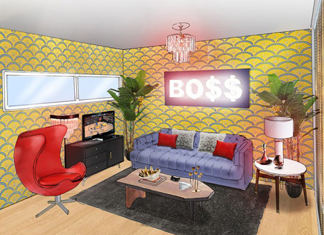 Pop-up interior designed by Snoop Dog