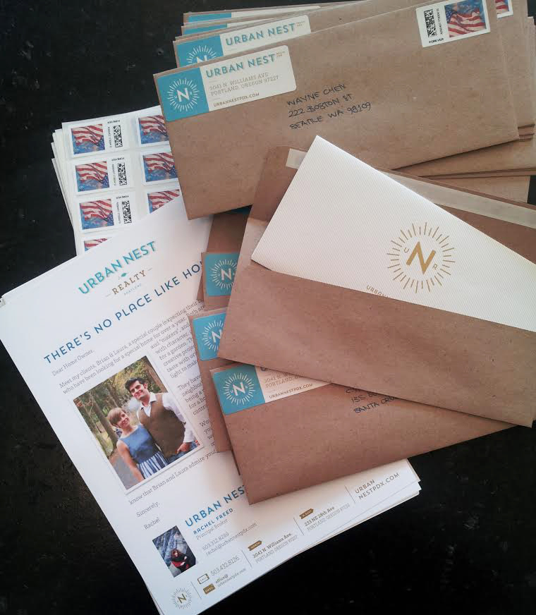 Brian & Laura's letter, ready to be mailed!