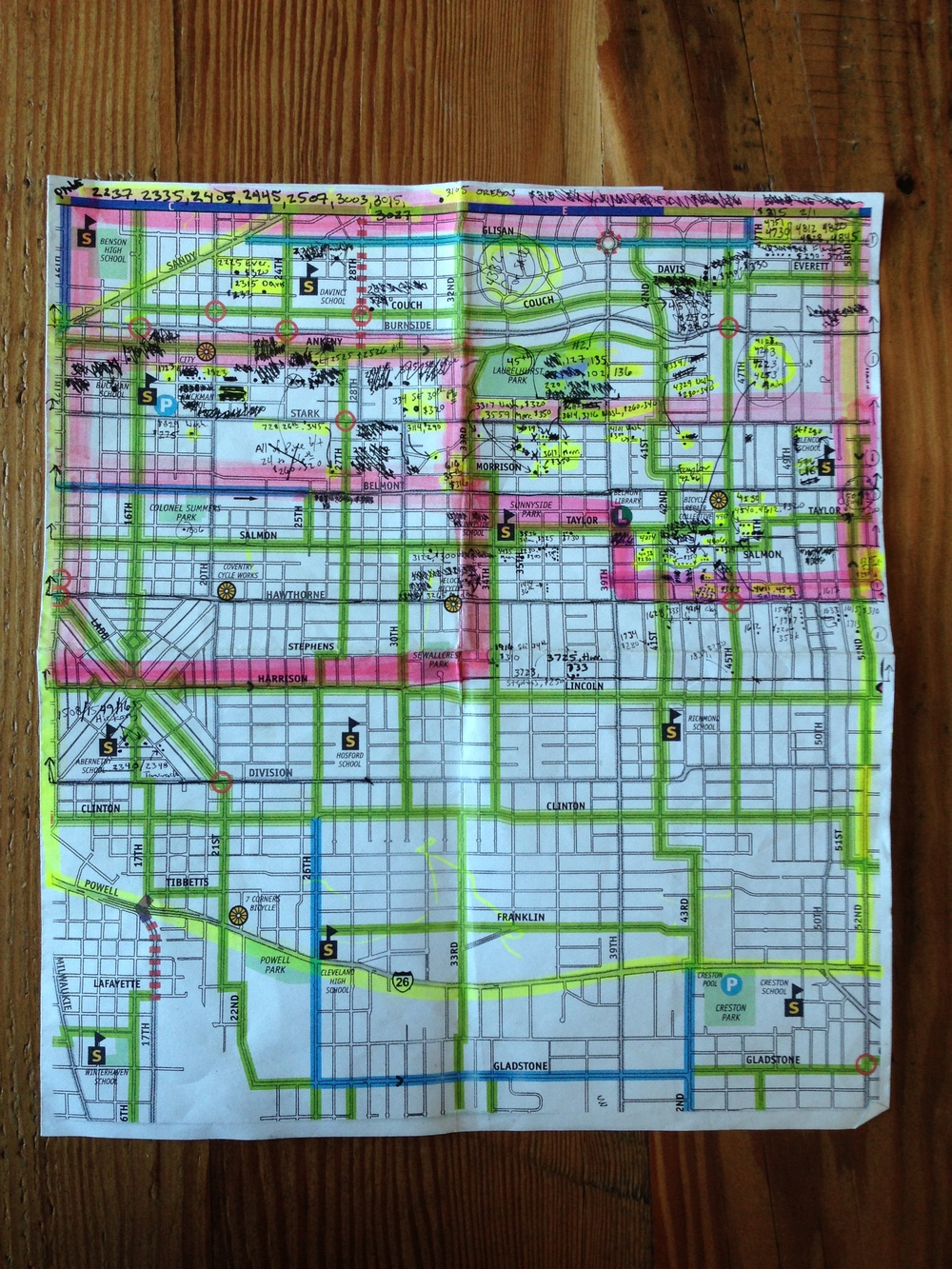 Brian & Laura's detailed map of their favorite neighborhoods!