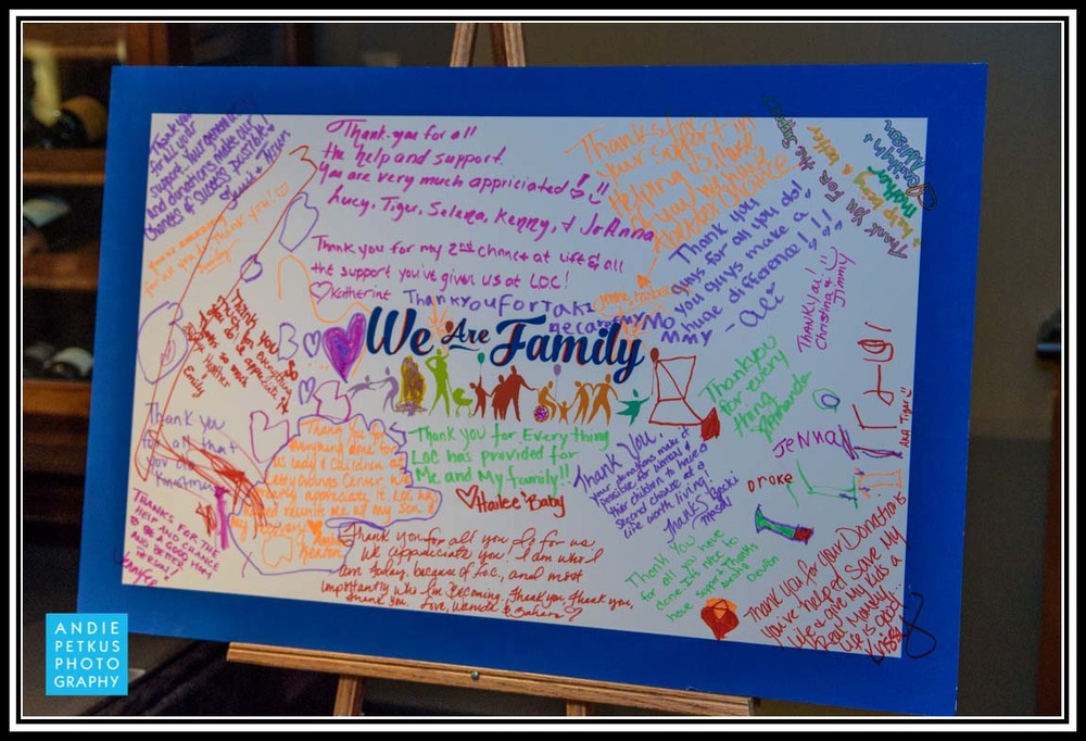 The giant Thank You card from many CCC clients