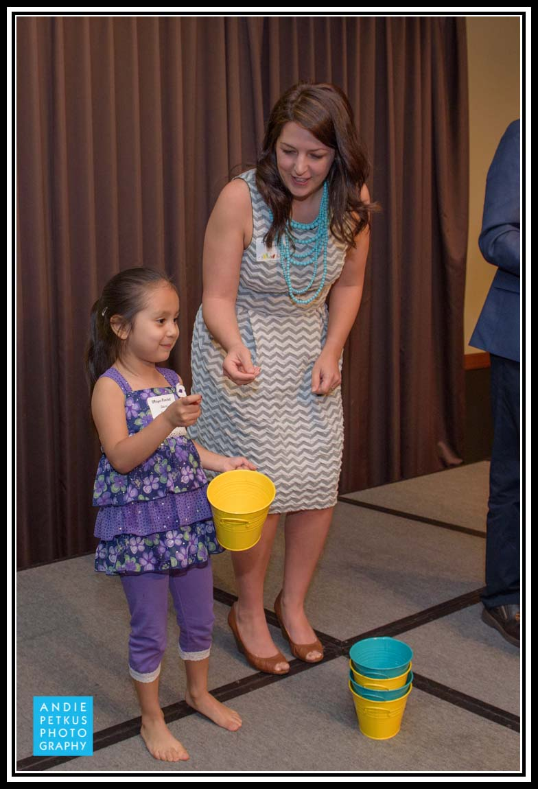 Urban Nest Agent Lindsay Robbins having buckets of fun with a young event-goer