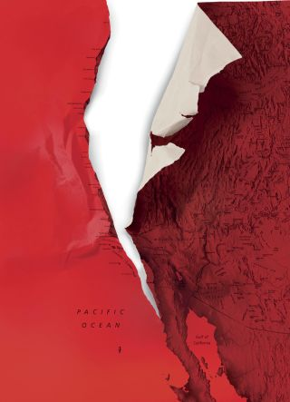 "FROM THE NEW YORKER ARTICLE  "" THE REALLY BIG ONE "" . ILLUSTRATION BY CHRISTOPH NIEMANN; MAP BY ZIGGYMAJ / GETTY"