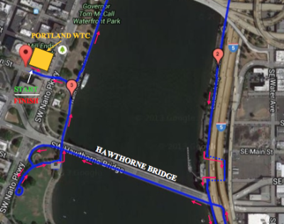 Race Course for This Year's First Run Along the Waterfront