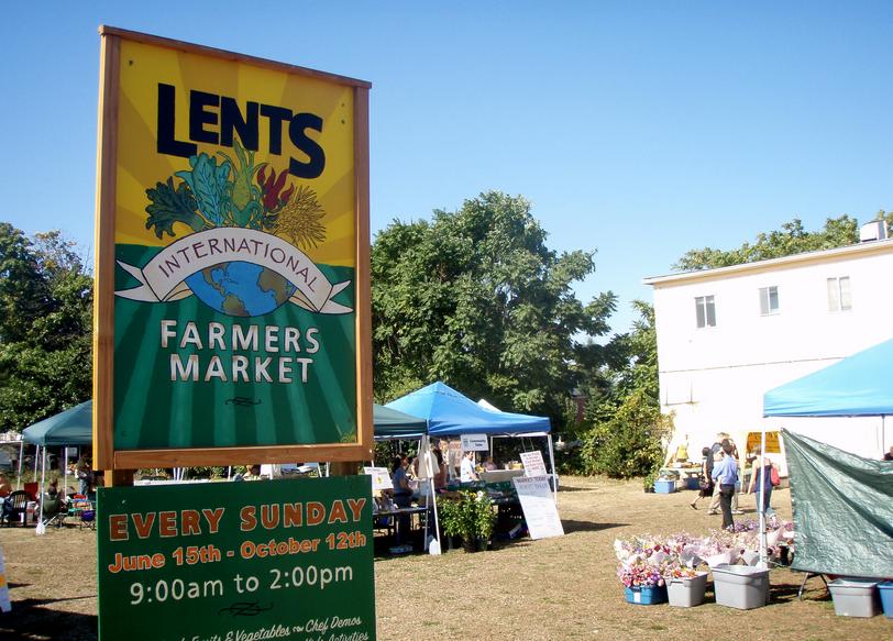 Lents International Farmers Market in PDX
