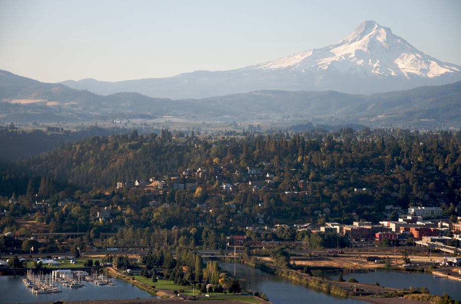 Hood River and Mt. Hood Pose for Another Amazing Photograph