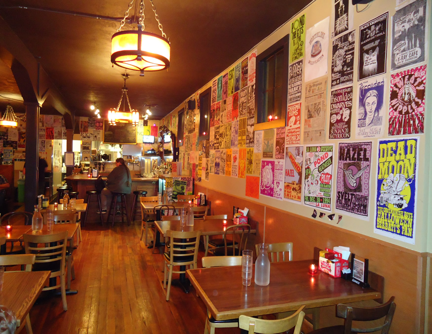 Inside the Dining Area at Family-Friendly Foster Burger