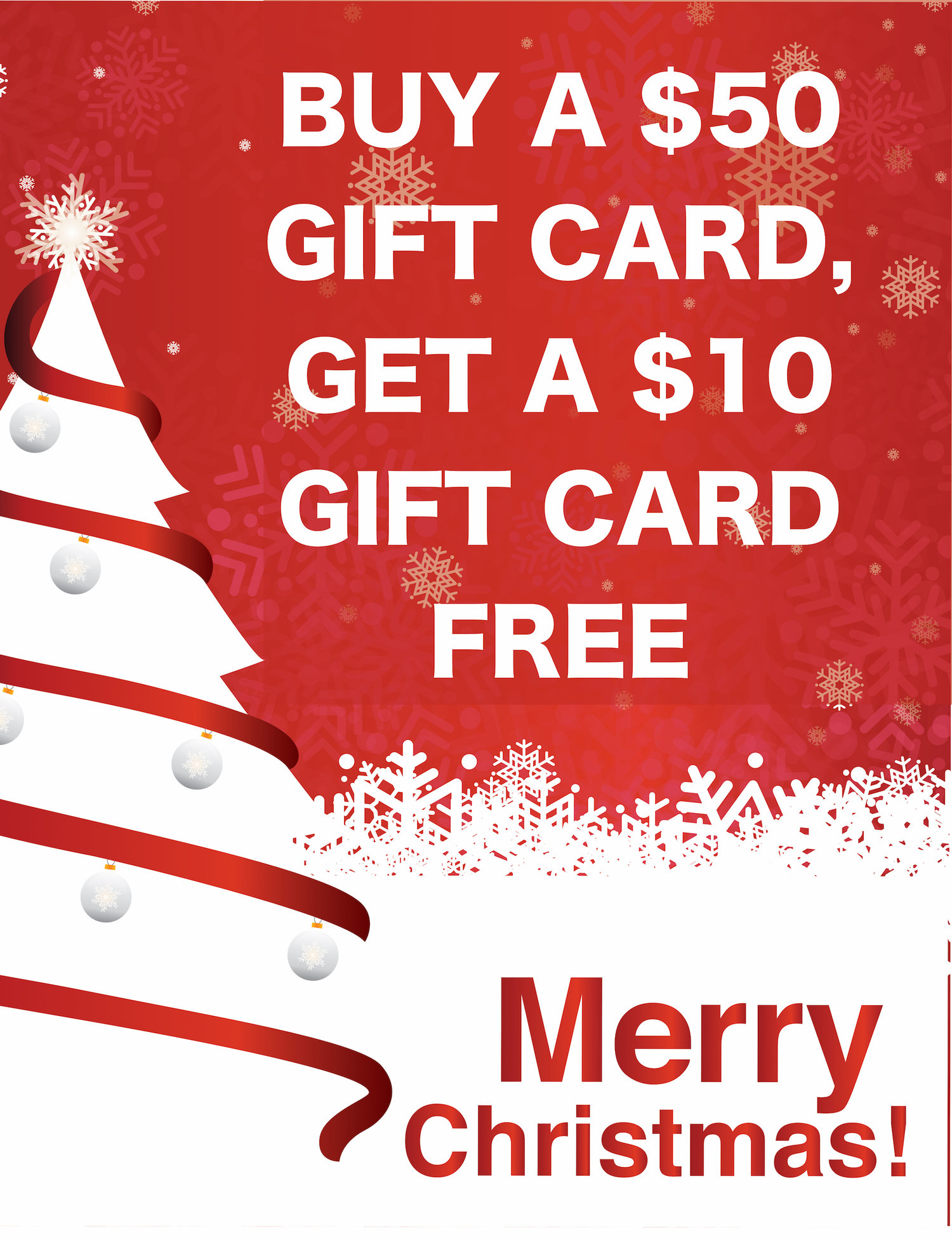 Buy $50\'s in gift cards and get a $10 gift card! — Coffee Shop ...