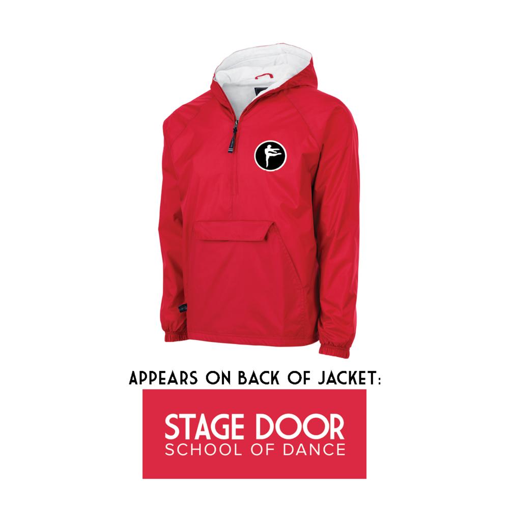 Stage Door School of Dance - Merch - Kids Jacket - Front and Back.png