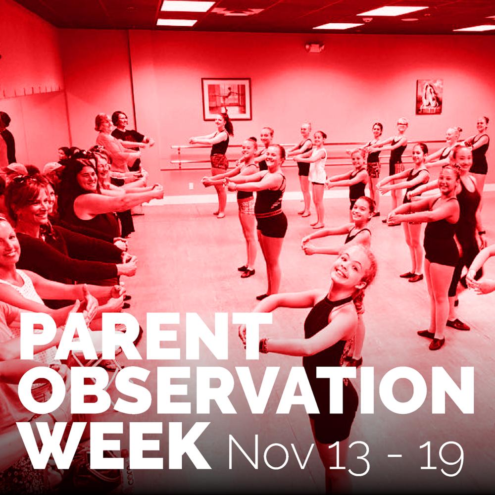 Stage Door School of Dance - Parent Observation Week 2018.png